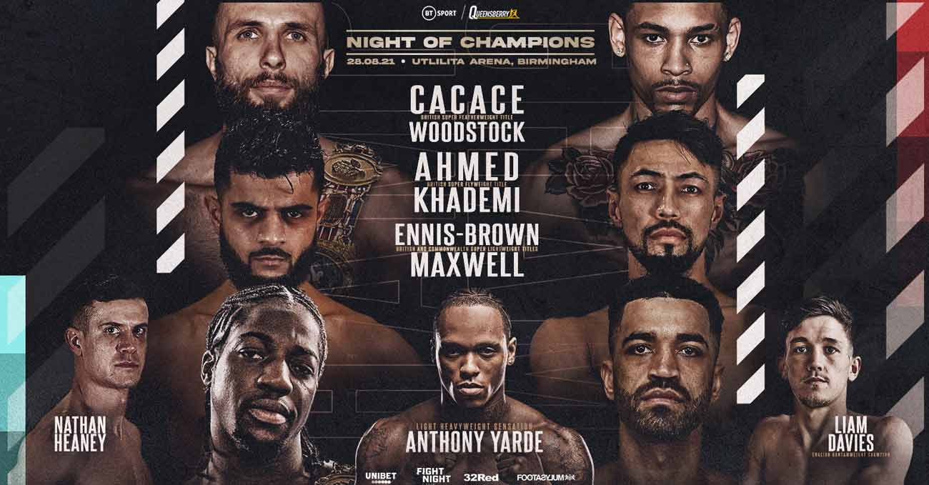 Anthony Cacace vs Leon Woodstock full fight video poster 2021-08-28