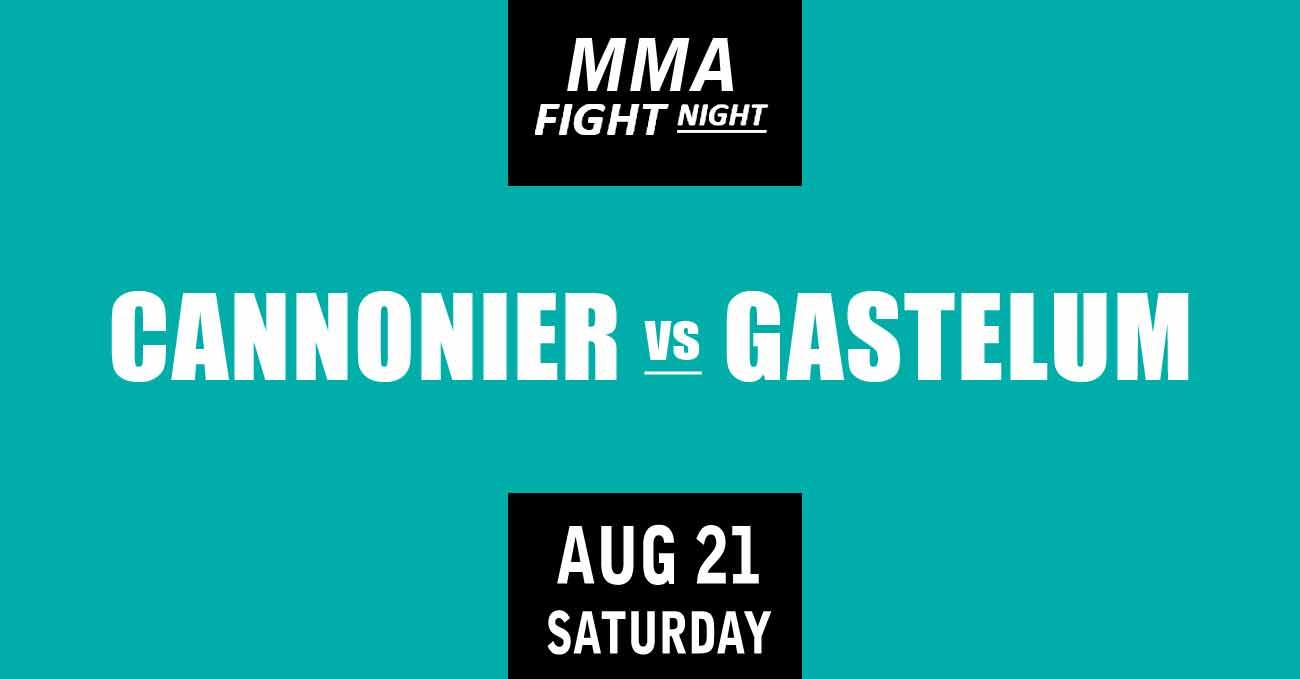 Jared Cannonier vs Kelvin Gastelum full fight video UFC Vegas 34 poster by ATBF