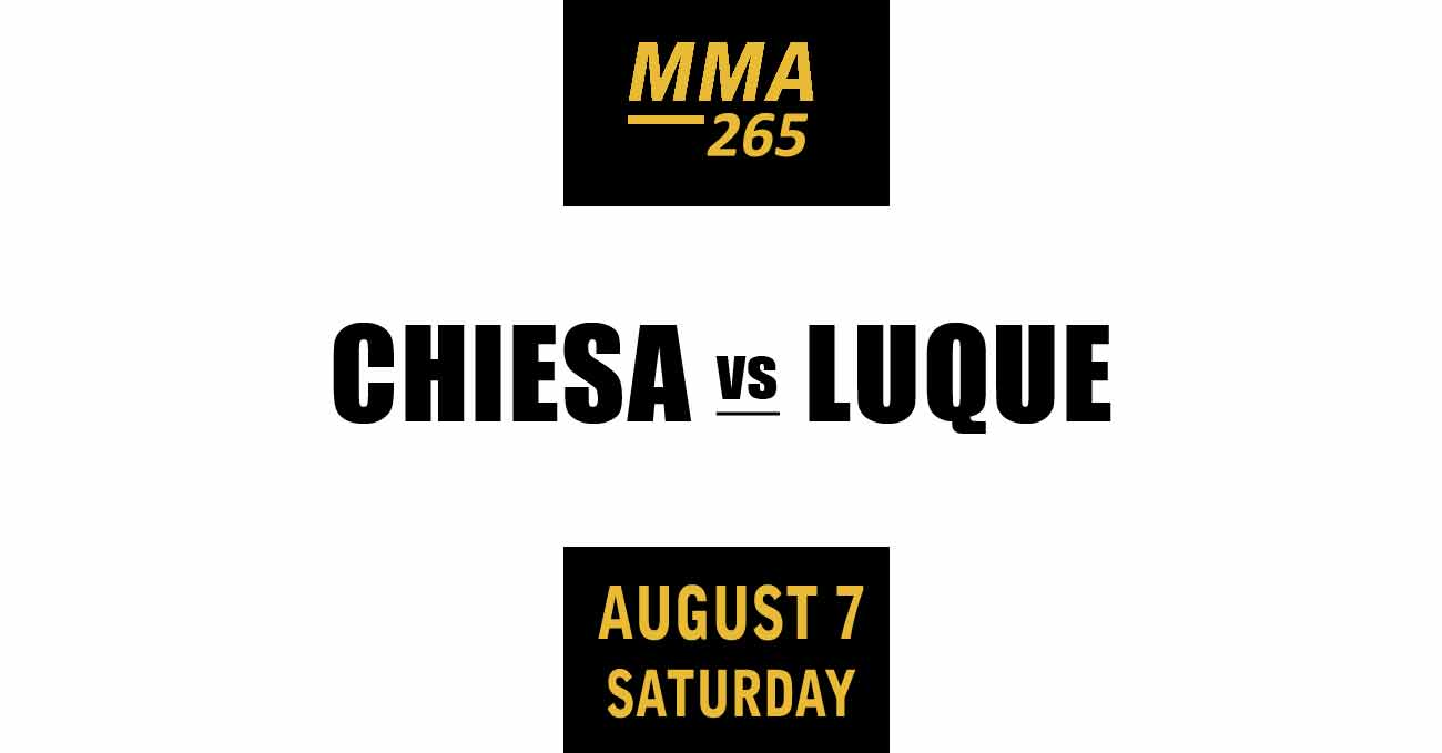 Michael Chiesa vs Vicente Luque full fight video UFC 265 poster by ATBF