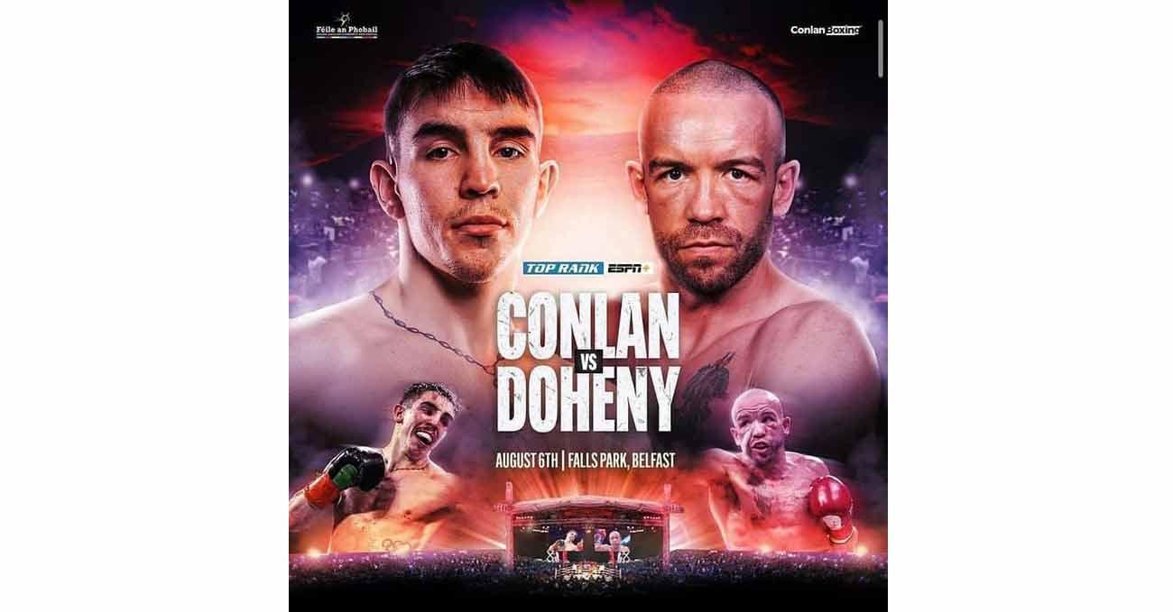 Michael Conlan vs TJ Doheny full fight video poster 2021-08-06