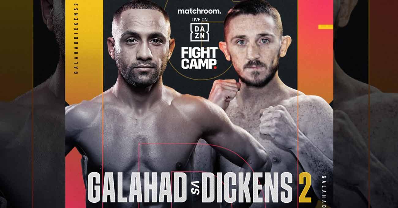 Kid Galahad vs James Dickens 2 full fight video poster 2021-08-07