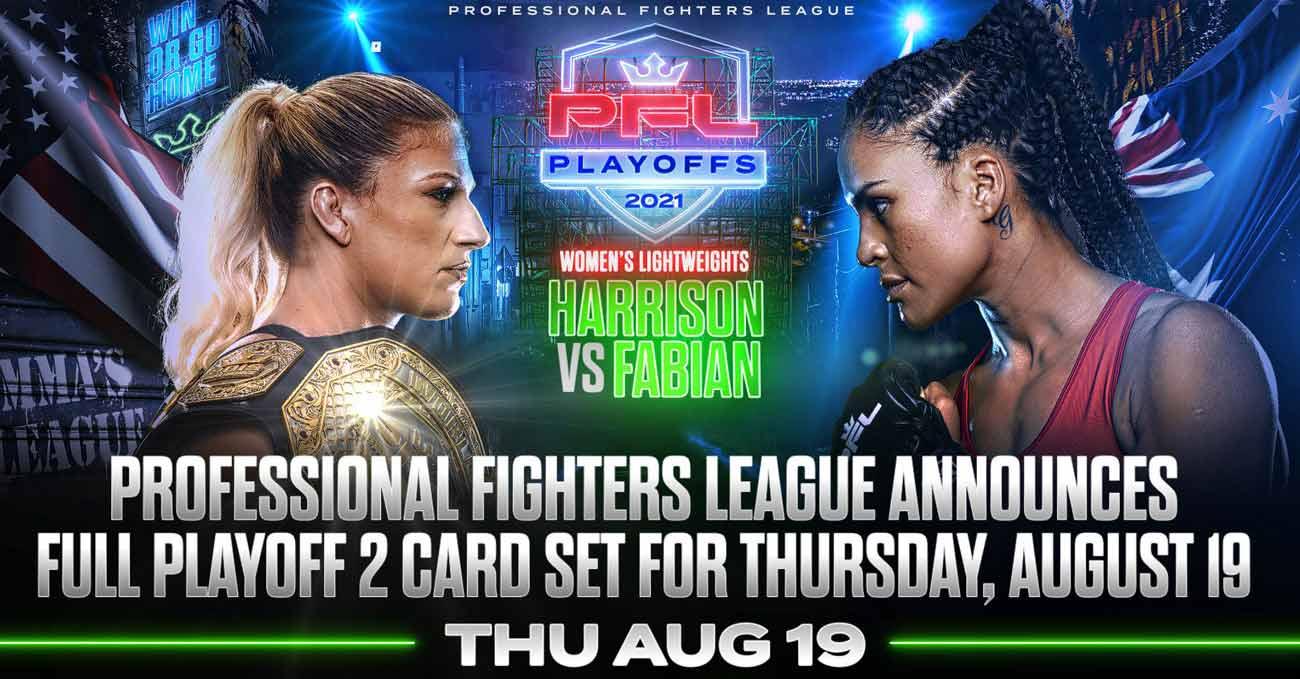 Kayla Harrison vs Genah Fabian full fight video PFL 8 poster