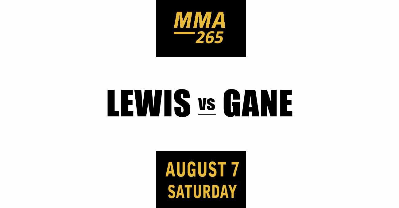 Derrick Lewis vs Ciryl Gane full fight video UFC 265 poster by ATBF