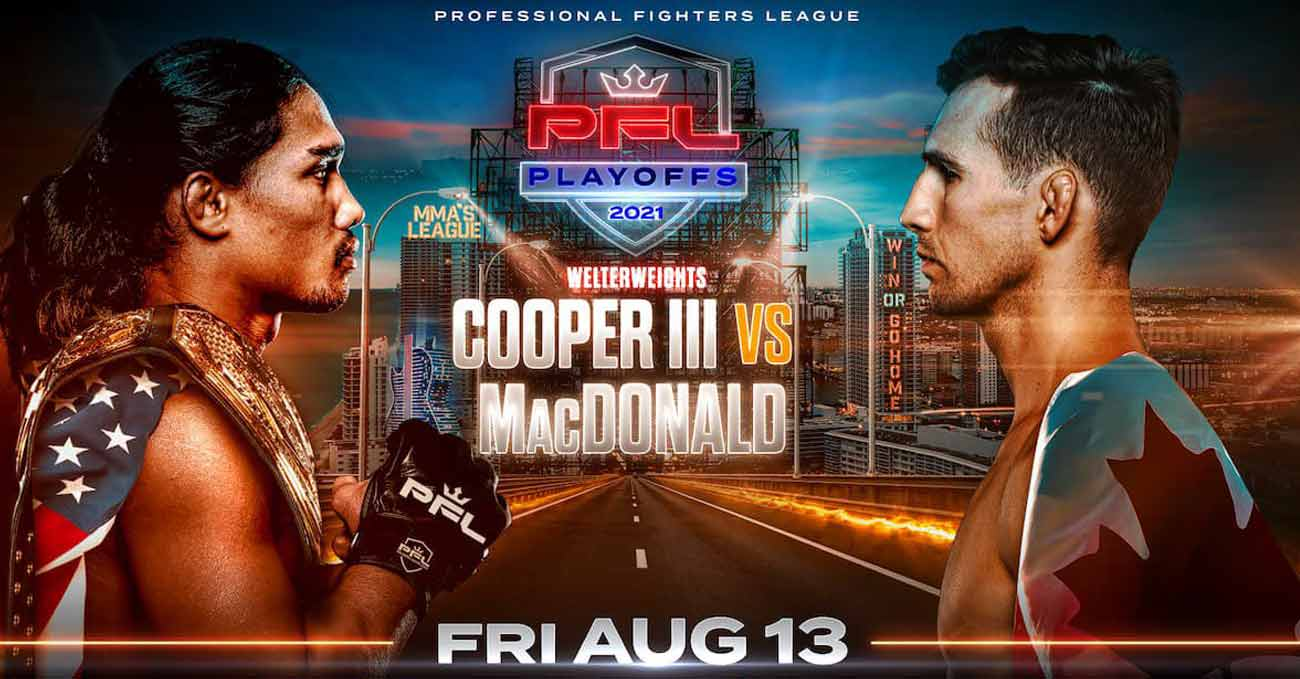 Rory MacDonald vs Ray Cooper III full fight video PFL 7 poster