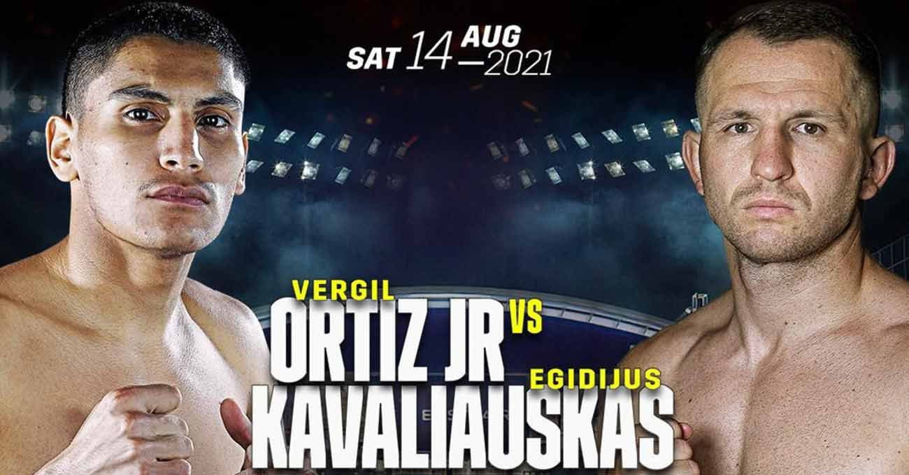 Vergil Ortiz Jr vs Egidijus Kavaliauskas full fight video poster 2021-08-14