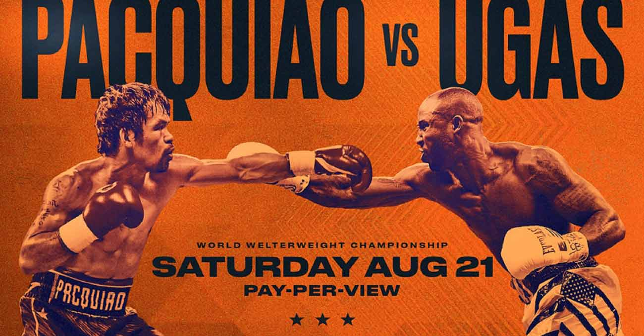 Manny Pacquiao vs Yordenis Ugas full fight video poster 2021-08-21