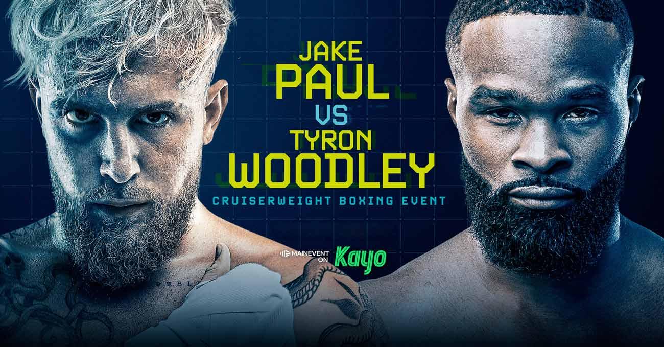 Jake Paul vs Tyron Woodley full fight video poster 2021-08-29