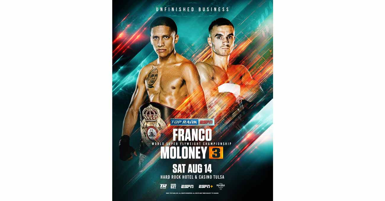Poster of Franco vs Moloney 3 2021-08-14