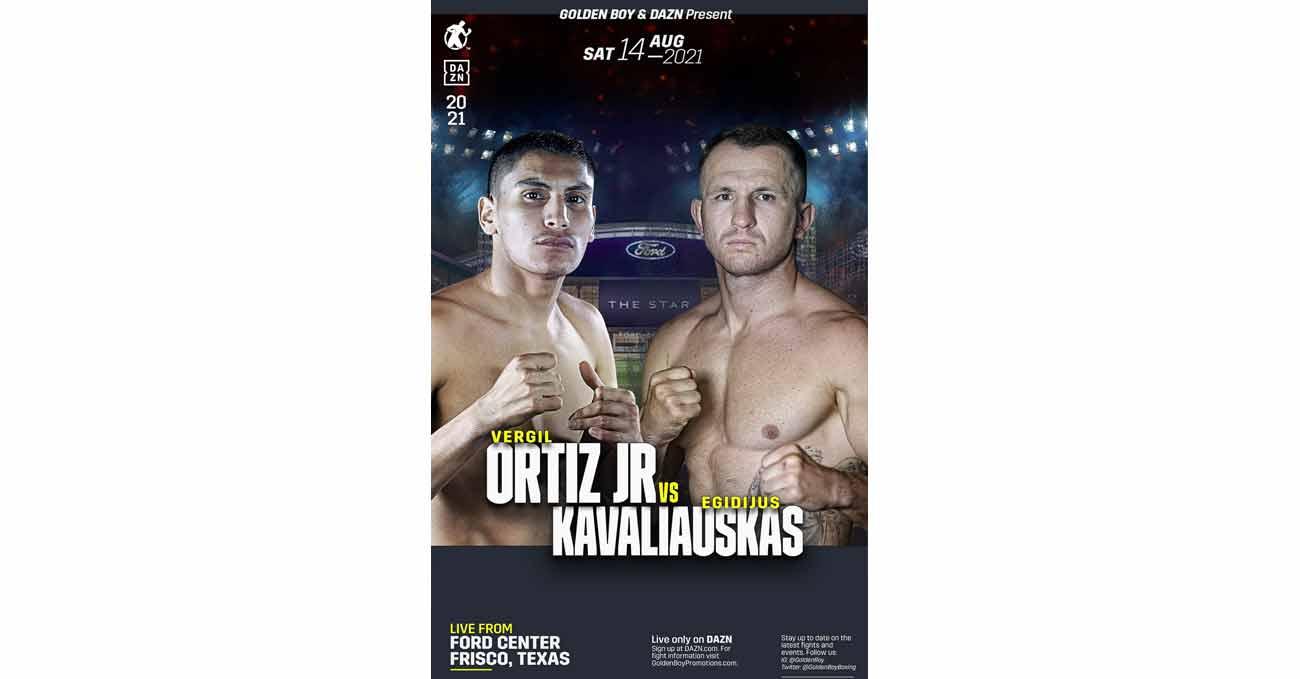 Poster of Ortiz vs Kavaliauskas 2021-08-14