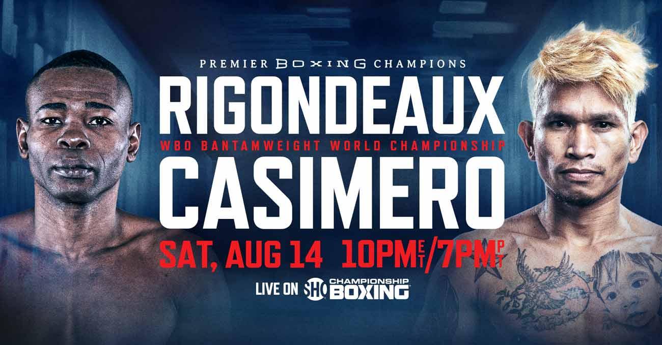 Guillermo Rigondeaux vs John Riel Casimero full fight video poster 2021-08-14