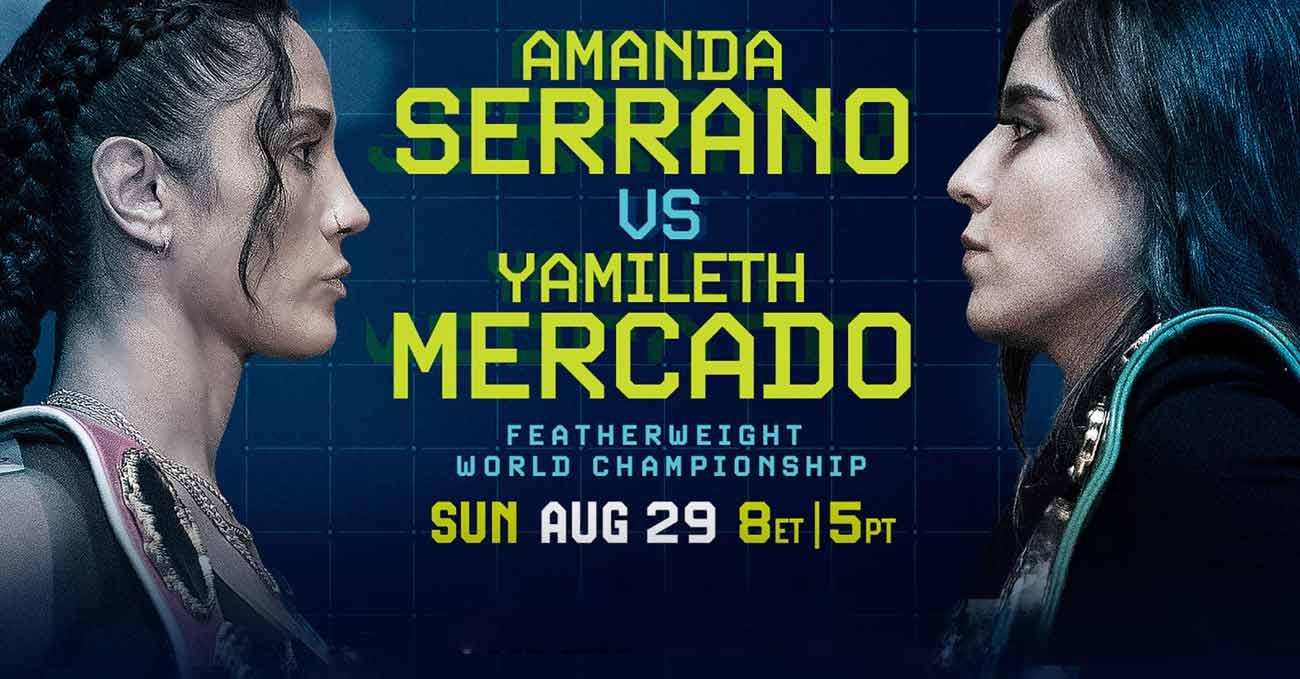 Amanda Serrano vs Yamileth Mercado full fight video poster 2021-08-29