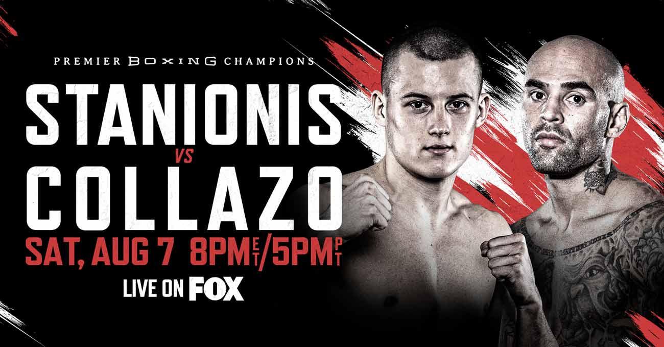 Eimantas Stanionis vs Luis Collazo full fight video poster 2021-08-07
