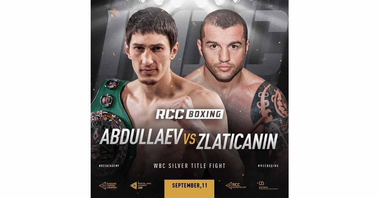 Zaur Abdullaev vs Dejan Zlaticanin full fight video poster 2021-09-11
