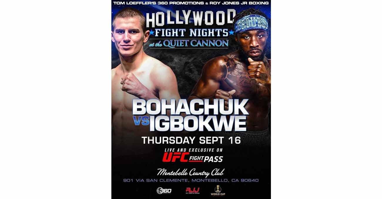 Serhii Bohachuk vs Raphael Igbokwe full fight video poster 2021-09-16