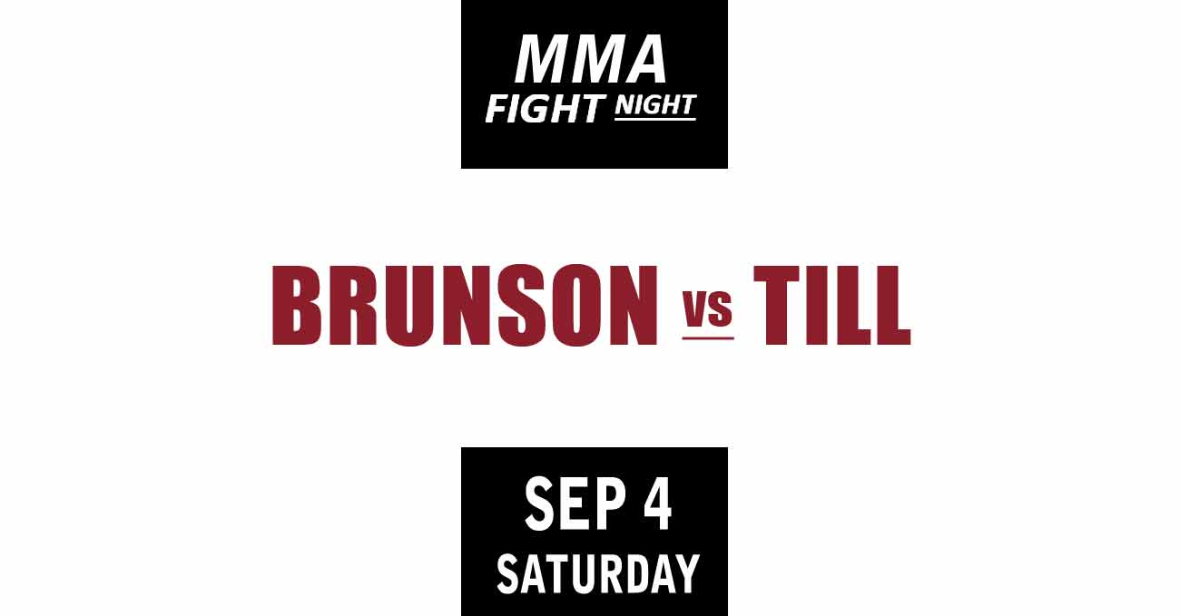Derek Brunson vs Darren Till full fight video UFC Vegas 36 poster by ATBF
