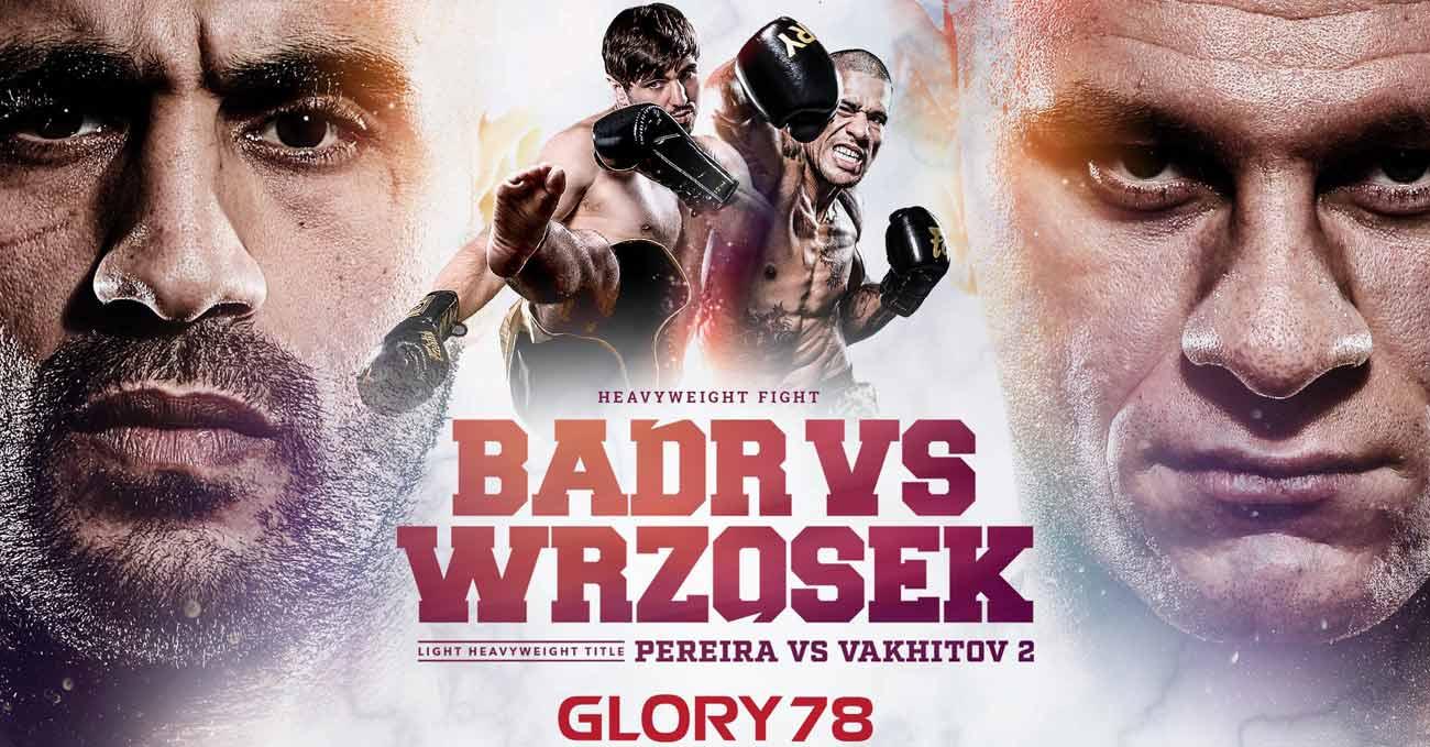 Badr Hari vs Arkadiusz Wrzosek full fight video Glory 78 poster