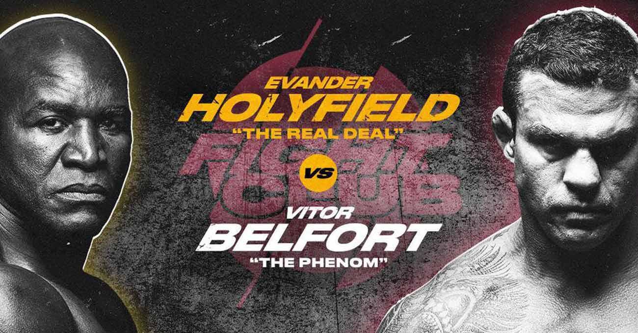 Evander Holyfield vs Vitor Belfort full fight video poster 2021-09-11
