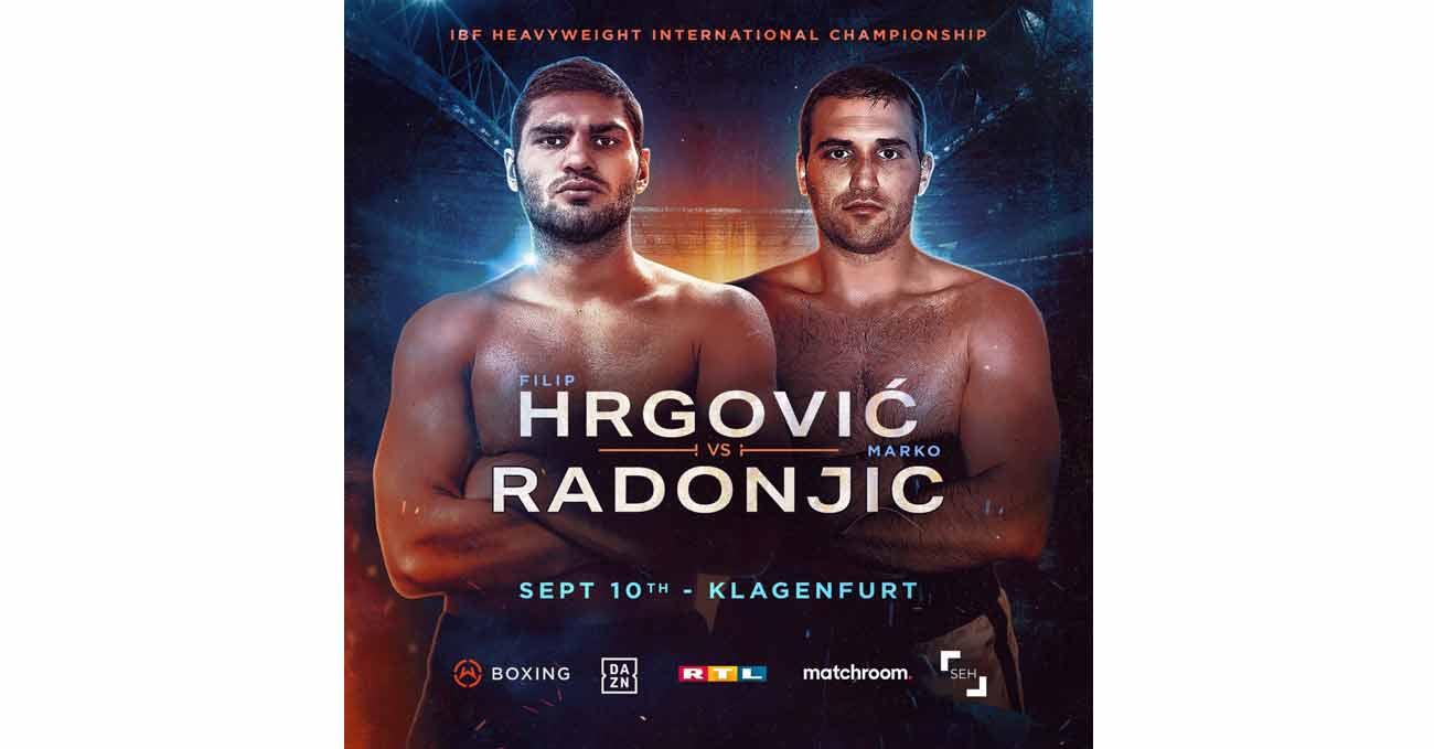 Filip Hrgovic vs Marko Radonjic full fight video poster 2021-09-10
