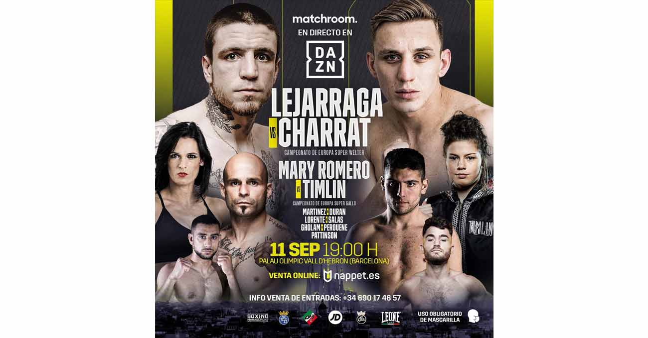 Kerman Lejarraga vs Dylan Charrat full fight video poster 2021-09-11