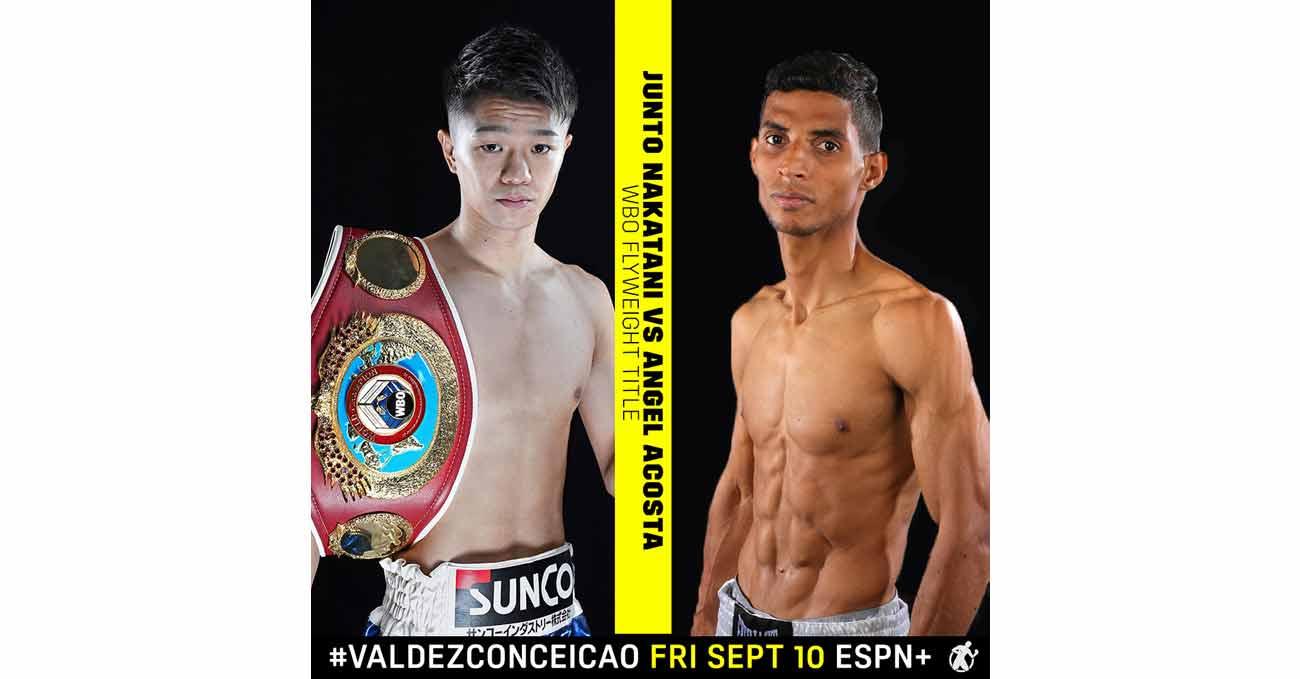 Junto Nakatani vs Angel Acosta full fight video poster 2021-09-10