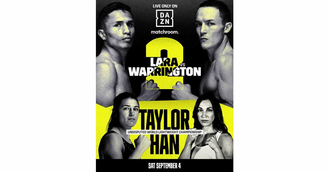 Poster of Lara vs Warrington 2 2021-09-04