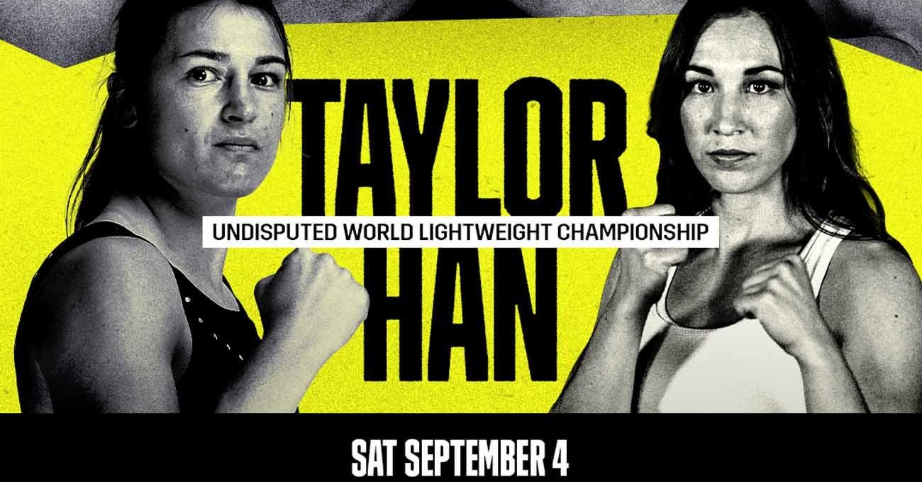 Katie Taylor vs Jennifer Han full fight video poster 2021-09-04