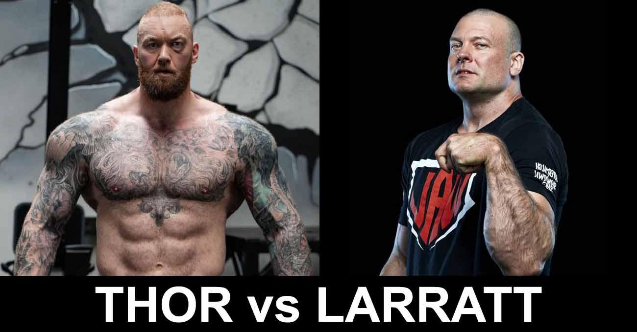 Hafthor Bjornsson vs Devon Larratt full fight video poster 2021-09-18