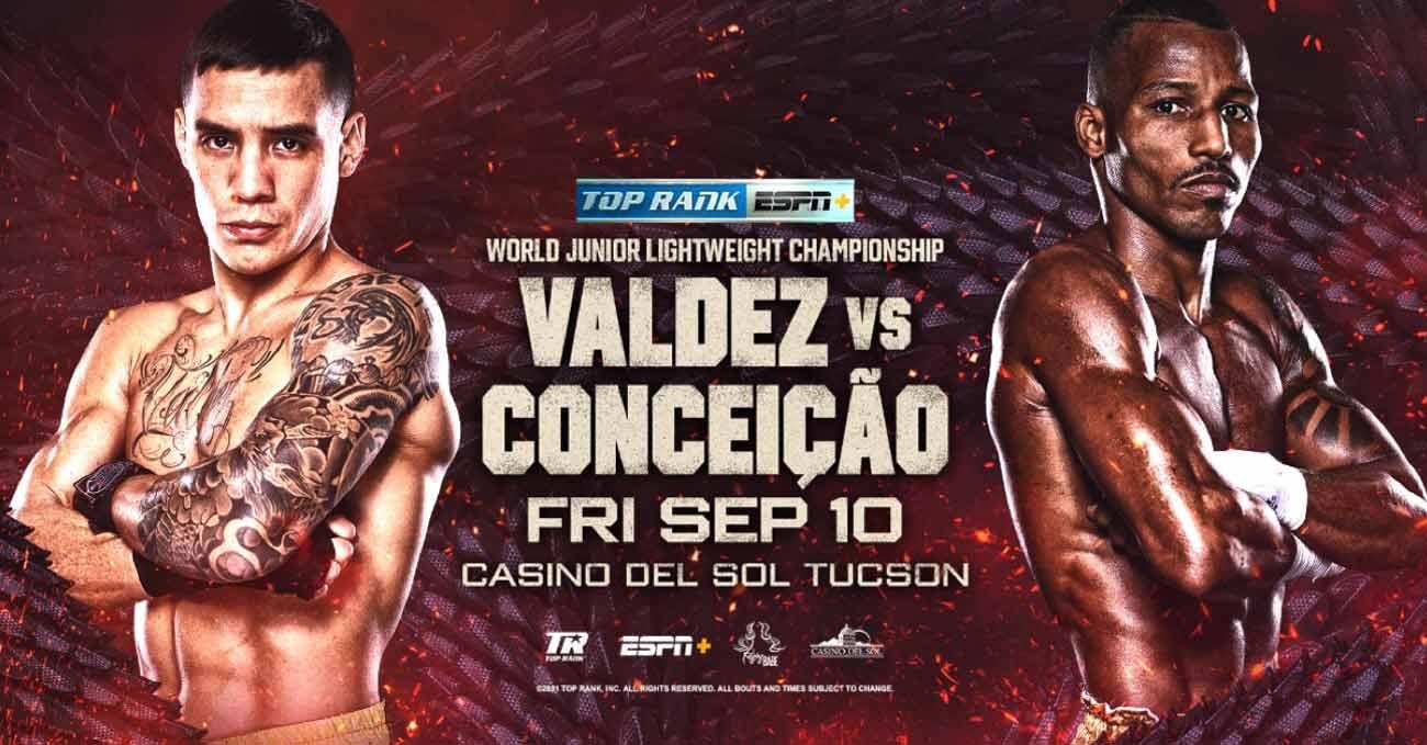 Oscar Valdez vs Robson Conceicao full fight video poster 2021-09-10
