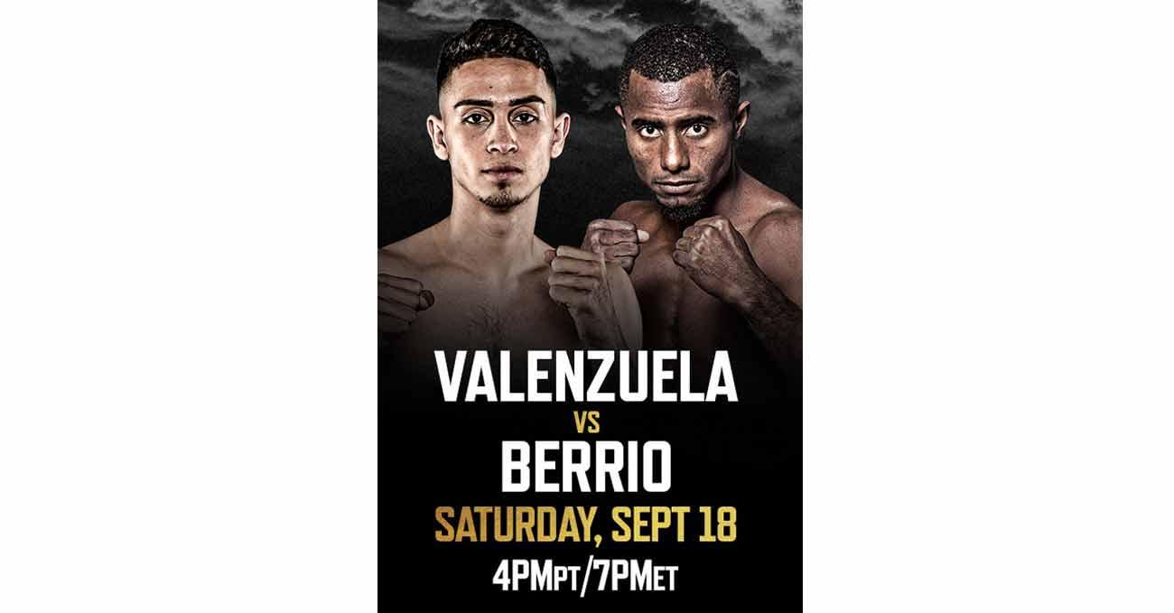 Jose Valenzuela vs Deiner Berrio full fight video poster 2021-09-18