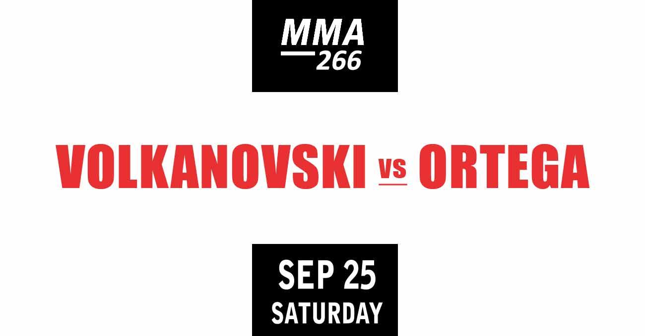 Alexander Volkanovski vs Brian Ortega full fight video UFC 266 poster by ATBF