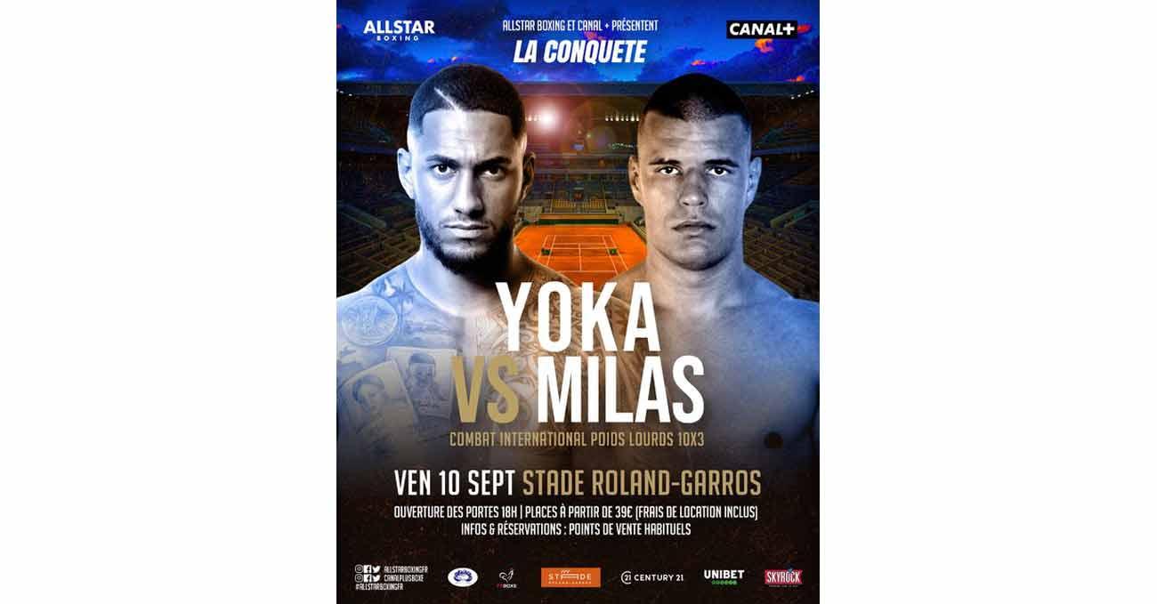 Tony Yoka vs Petar Milas full fight video poster 2021-09-10