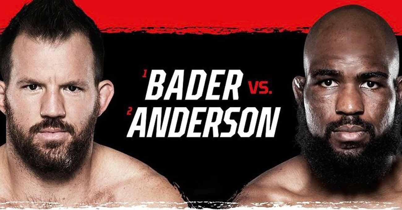 Ryan Bader vs Corey Anderson full fight video Bellator 268 poster