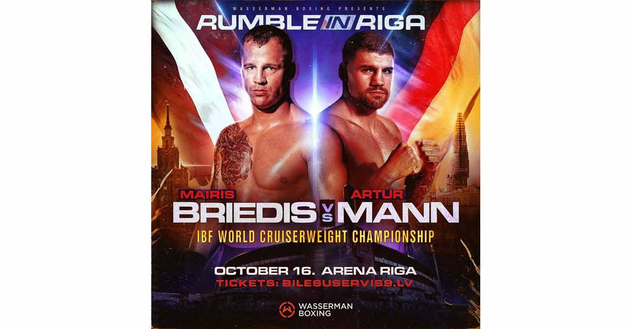 Mairis Briedis vs Artur Mann full fight video poster 2021-10-16