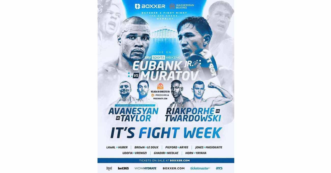 Chris Eubank Jr vs Anatoli Muratov full fight video poster 2021-10-02