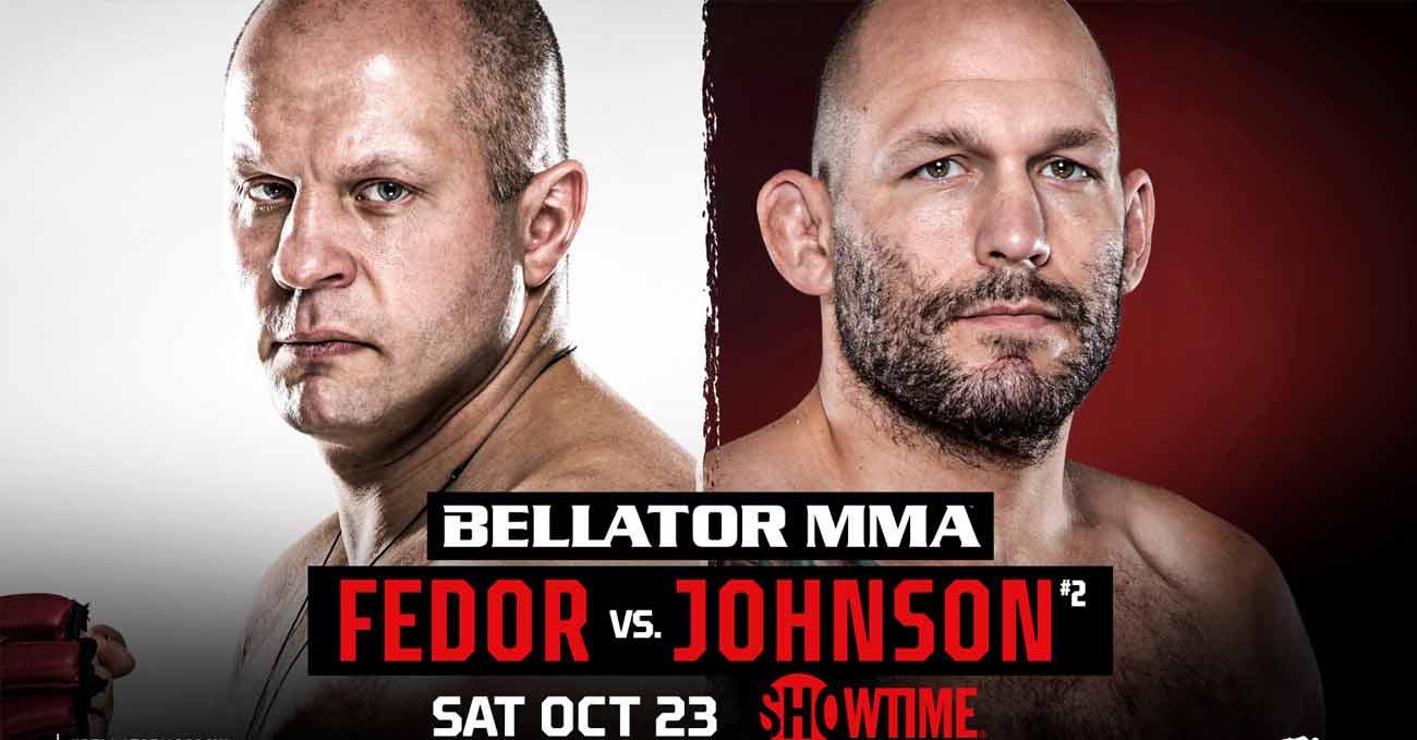 Fedor Emelianenko vs Timothy Johnson full fight video Bellator 269 poster