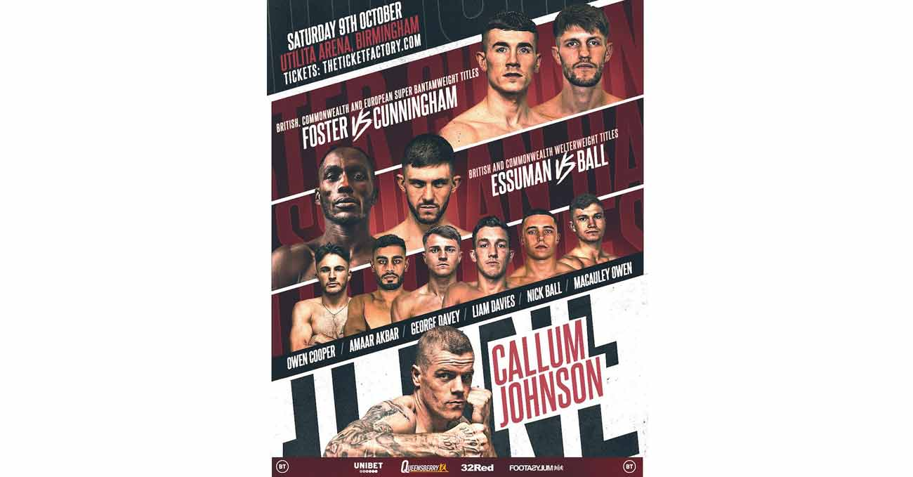 Brad Foster vs Jason Cunningham full fight video poster 2021-10-09