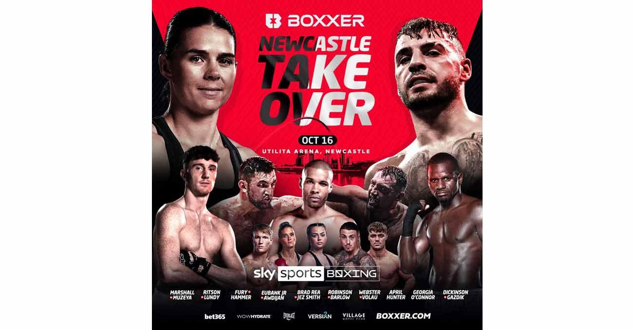 Hughie Fury vs Christian Hammer full fight video poster 2021-10-16