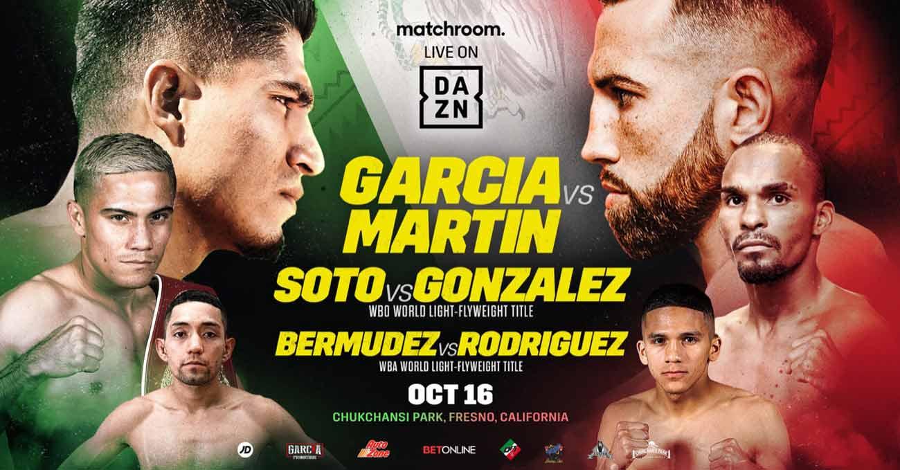 Mikey Garcia vs Sandor Martin full fight video poster 2021-10-16