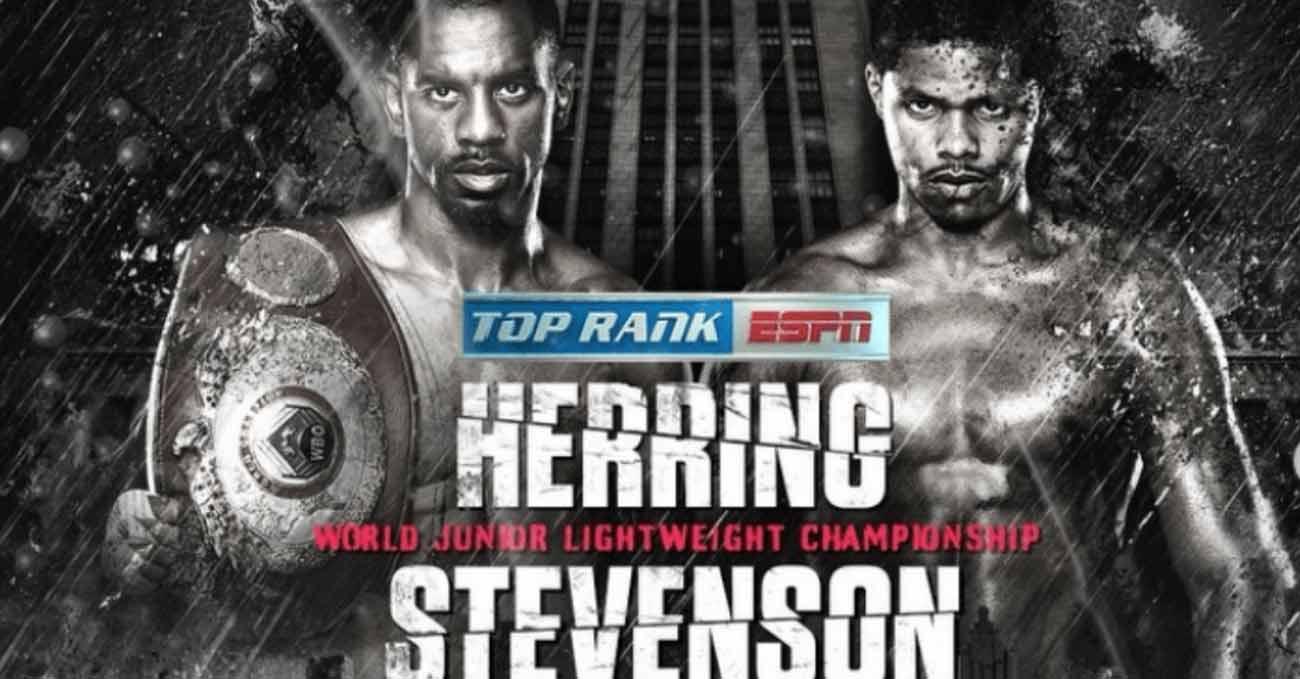 Jamel Herring vs Shakur Stevenson full fight video poster 2021-10-23