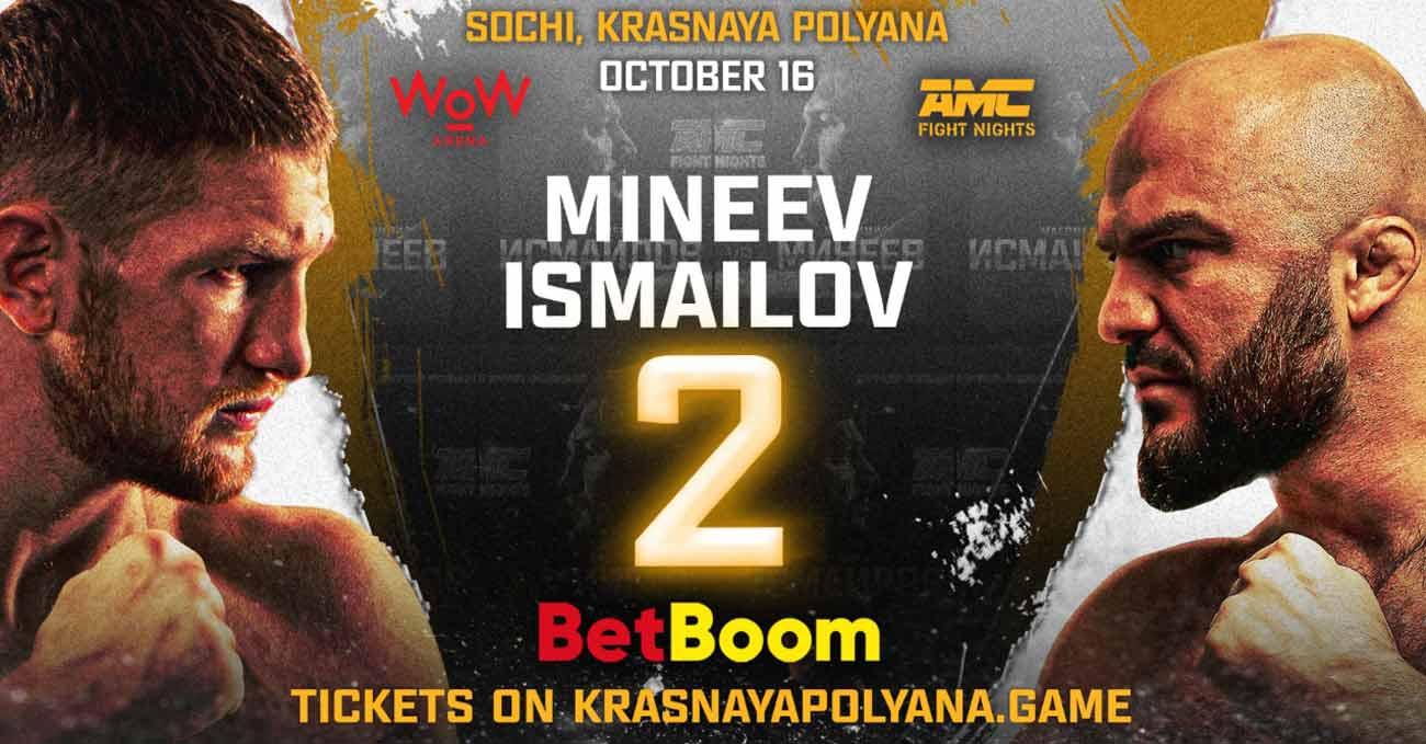 Magomed Ismailov vs Vladimir Mineev 2 full fight video AMC Fight Nights 105 poster