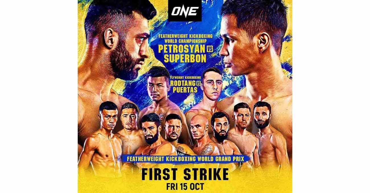 Giorgio Petrosyan vs Superbon Banchamek full fight video ONE First Strike poster
