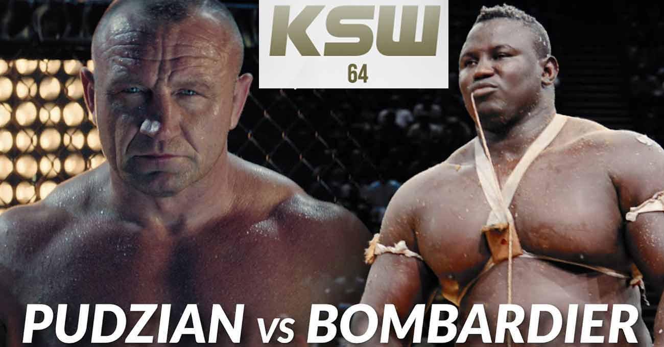 Mariusz Pudzianowski vs Bombardier full fight video KSW 64 poster
