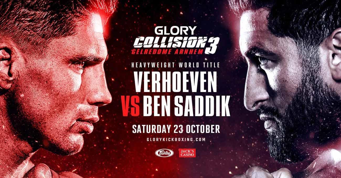 Rico Verhoeven vs Jamal Ben Saddik 3 full fight video Glory Collision 3 poster