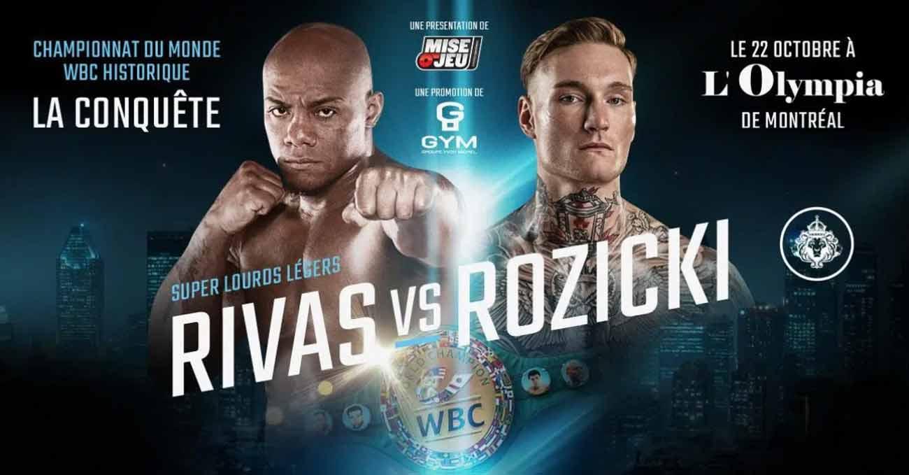 Oscar Rivas vs Ryan Rozicki full fight video poster 2021-10-22