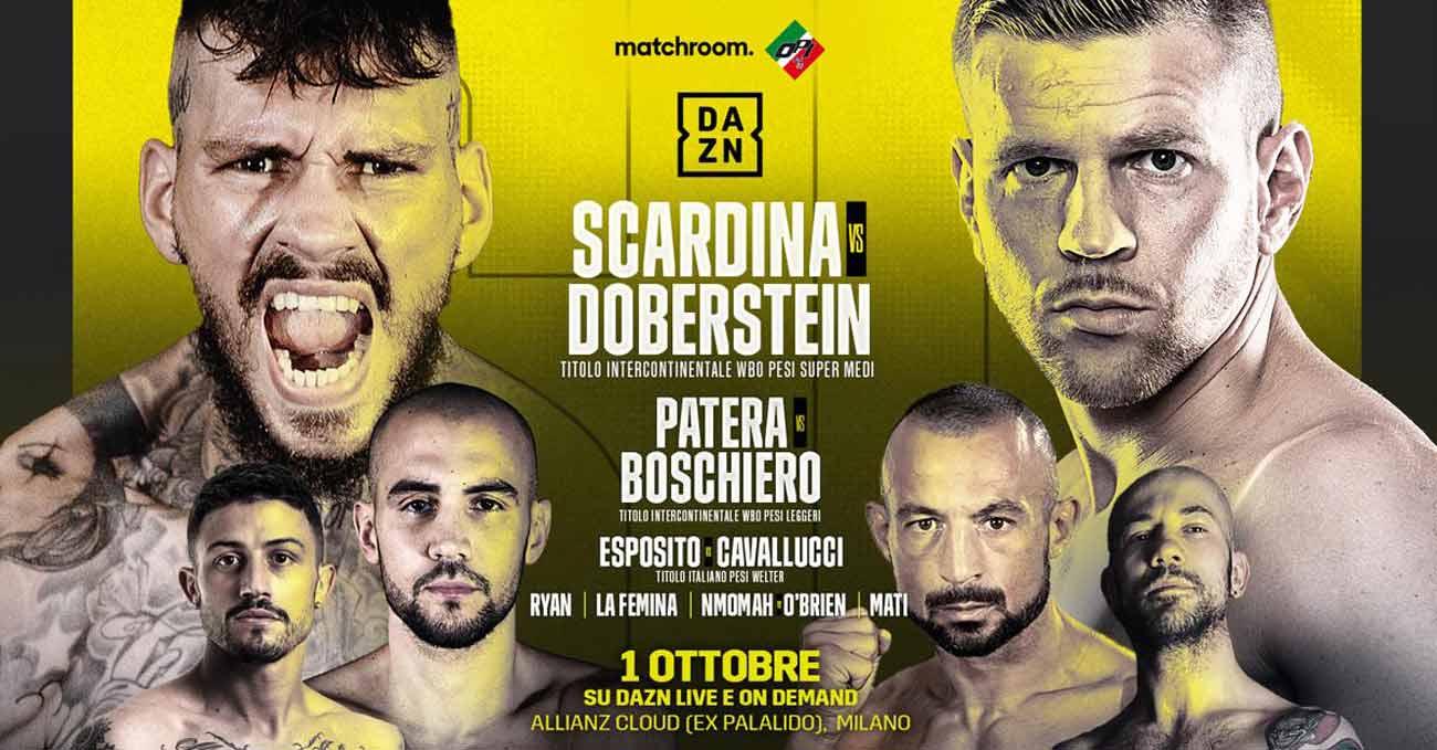Daniele Scardina vs Juergen Doberstein full fight video poster 2021-10-01
