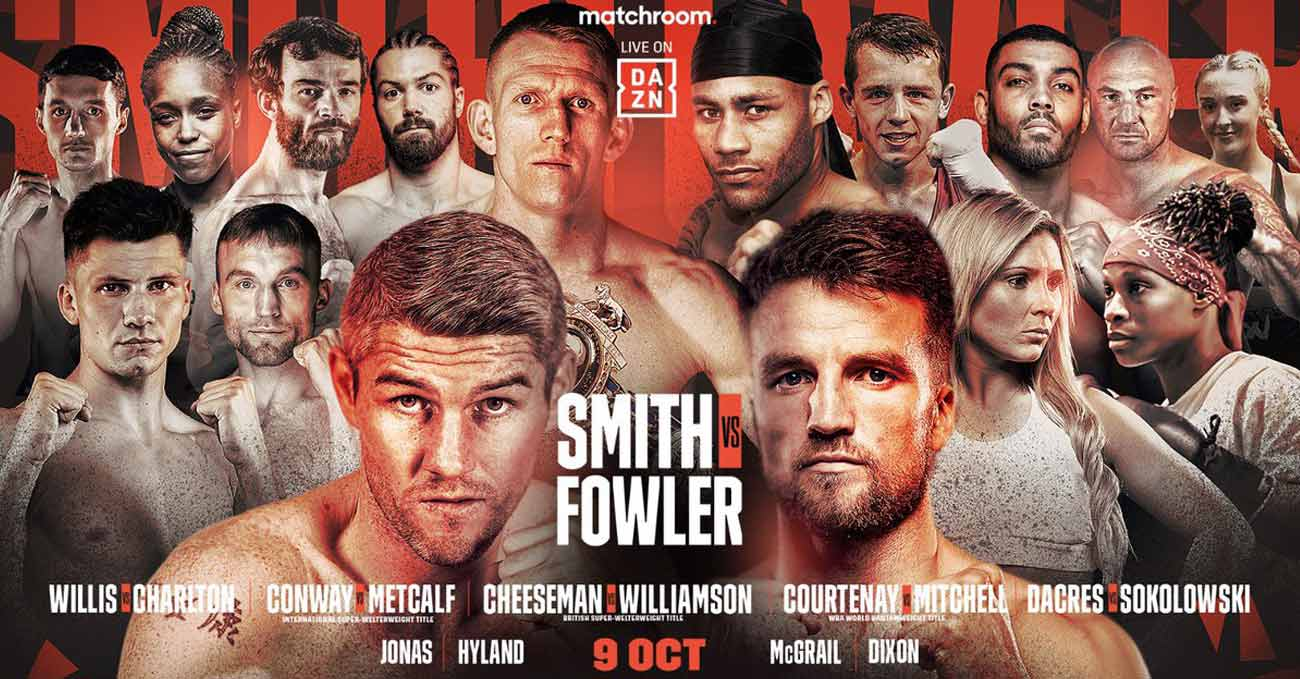 Liam Smith vs Anthony Fowler full fight video poster 2021-10-09